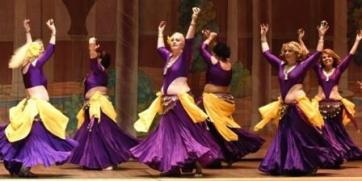 Dance troupe costume in purple by Dhyanis
